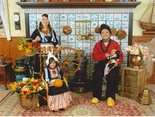 Family photo in Volendam, the Netherlands